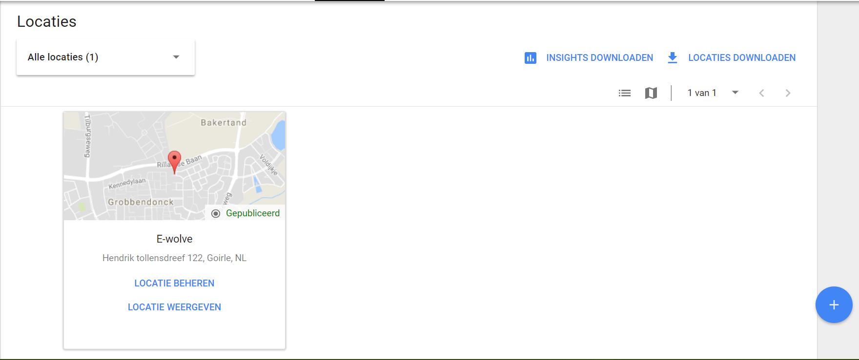 Locatie beheren in Google Mijn Bedrijf voor Google Posts