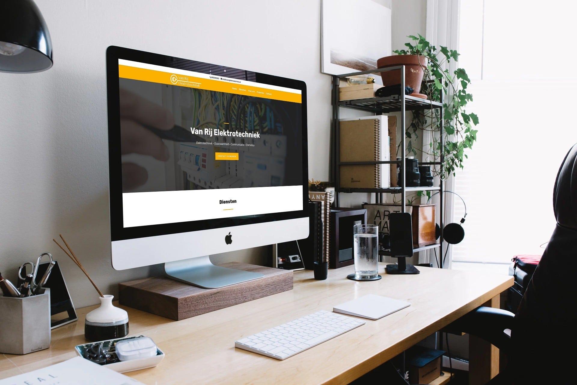 Nieuwe website van Van Rij Elektrotechniek