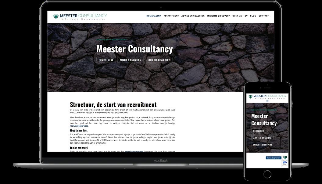 Een nieuwe website voor Meester Consultancy
