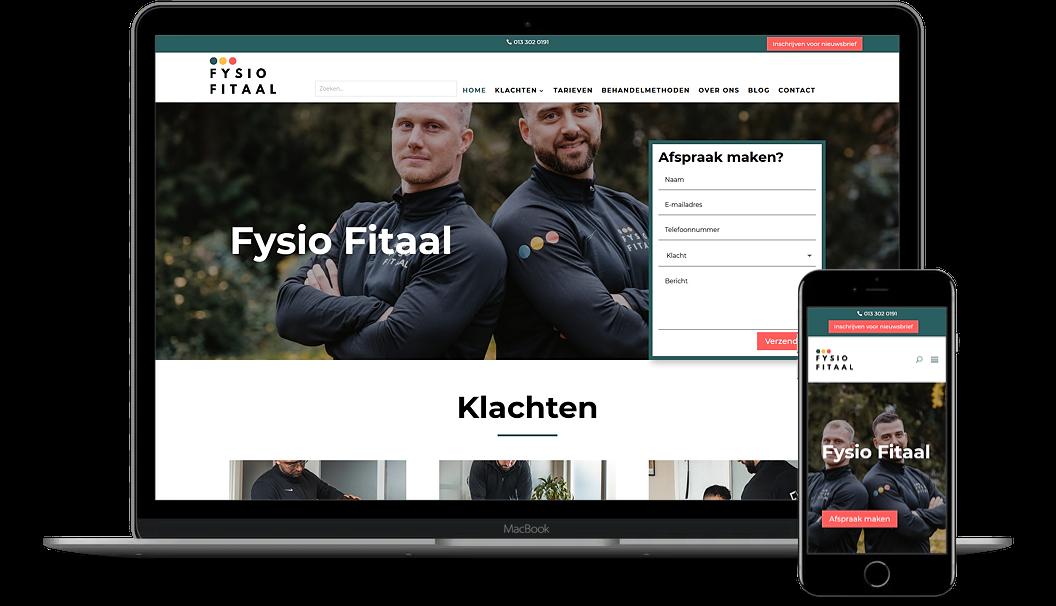 Nieuwe website van Fysiofitaal