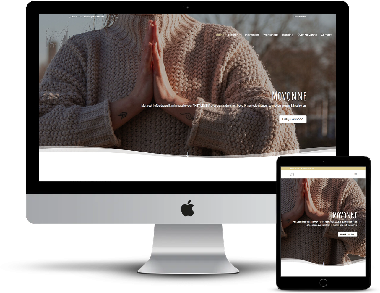 Nieuwe website van Movonne