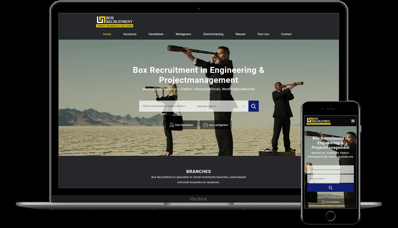 Nieuwe website voor Box Recruitment