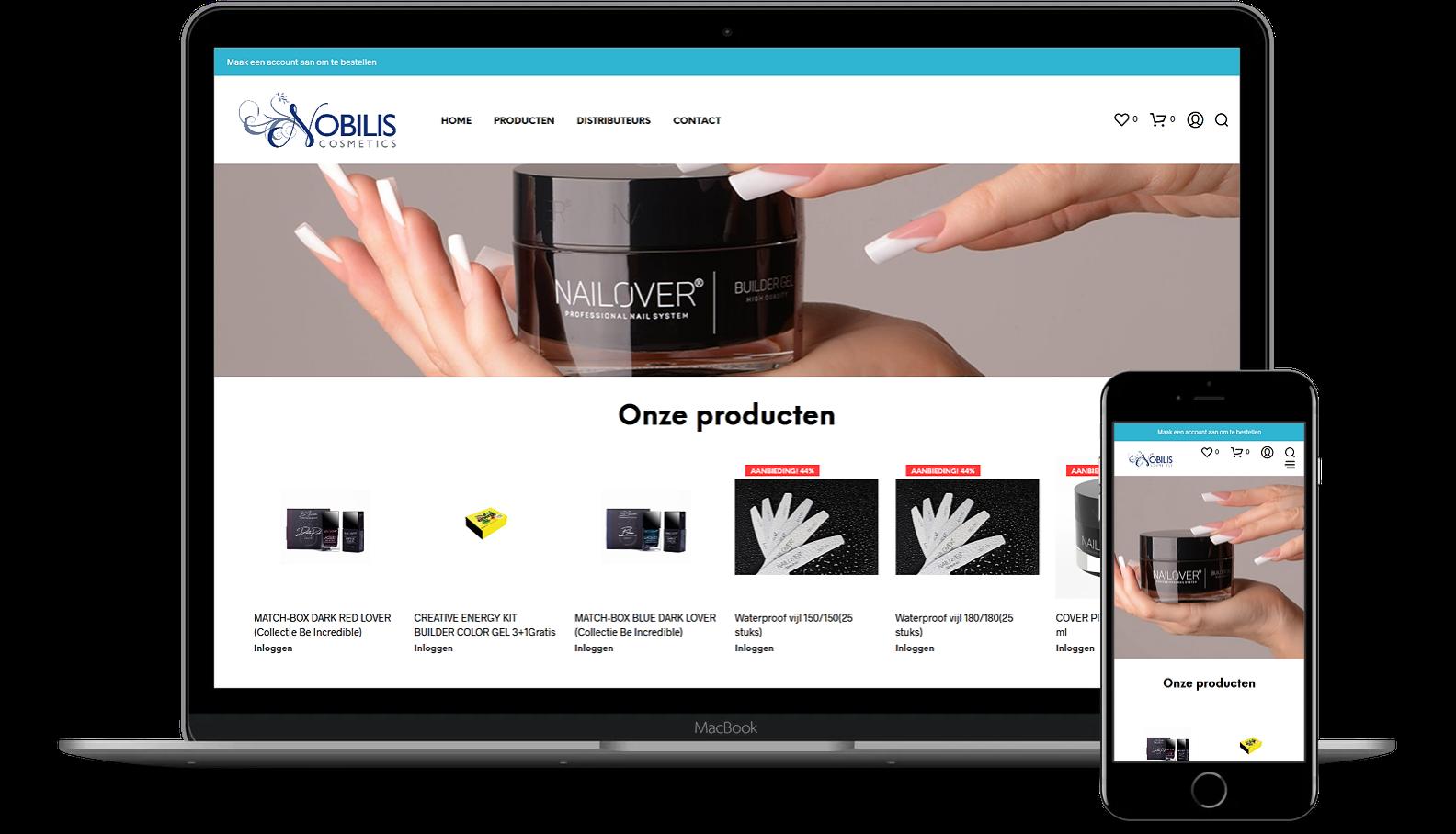 Nieuwe webshop voor Nobilis Cosmetics