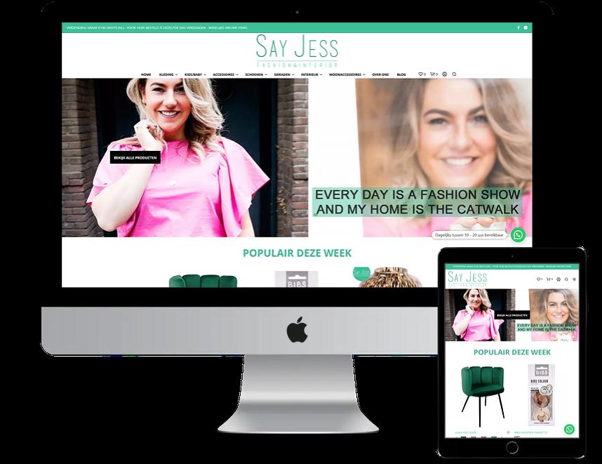Nieuwe webshop voor Say Jess Fashion & Interior